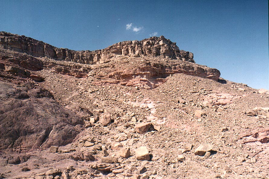 Timna Stage, the tallest summit of Timna Mountains. The Middle East