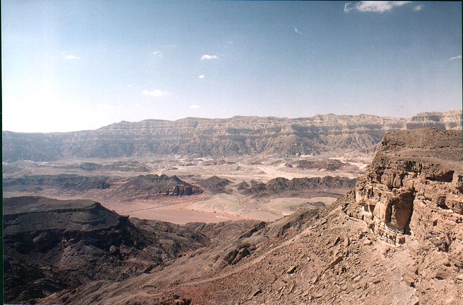 View to the north-west from Timna Stage. The Middle East