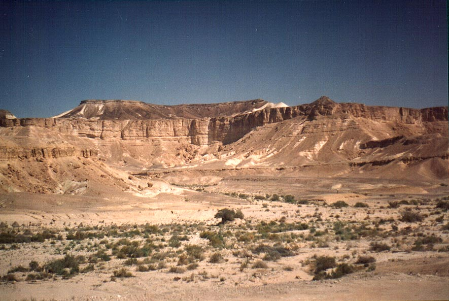 Negev Desert south from Ramon crater, near Paran...on Rd. 40 to Eilat. The Middle East
