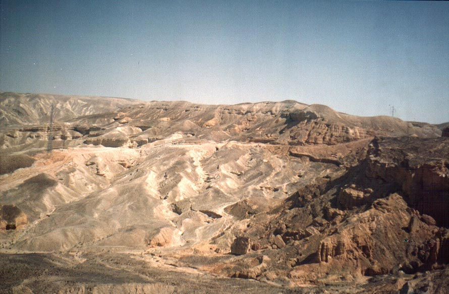 Negev Desert south from Ramon crater, near Har...on Rd. 40 to Eilat. The Middle East
