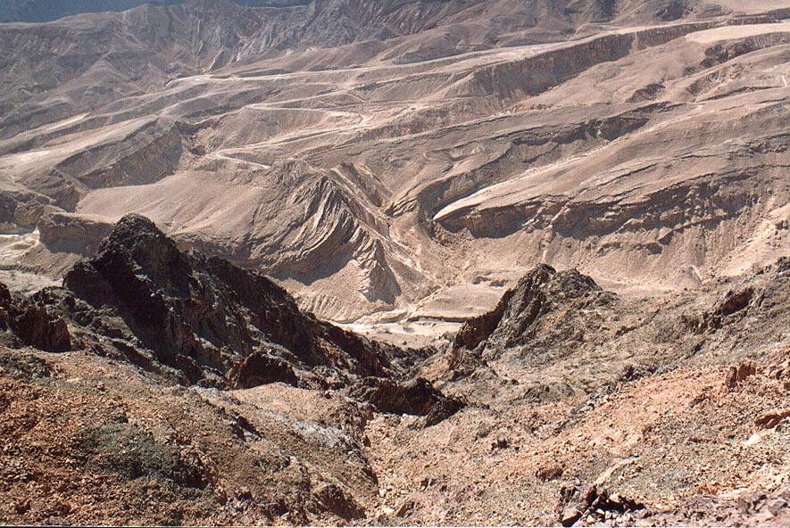 View to north-west from a trail to Mount Shelomo...north-west from Eilat. The Middle East