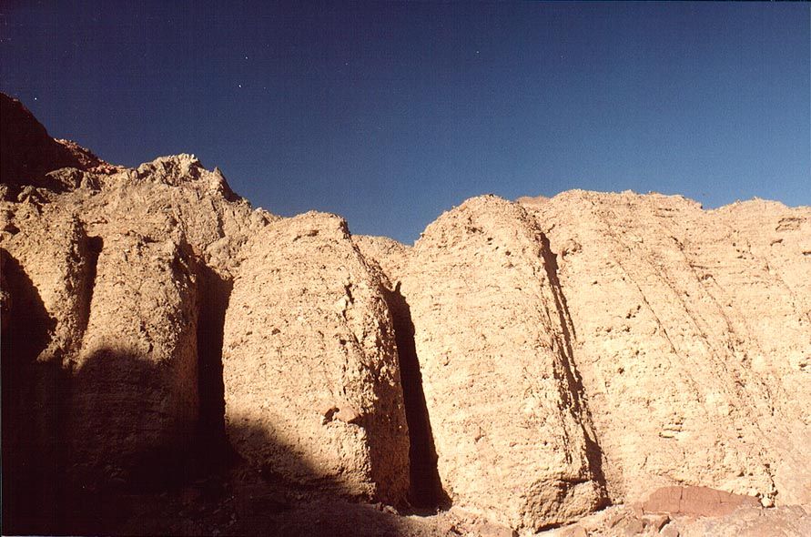 Imperfect version of Solomon Pillars, view from a...north-west from Eilat. The Middle East