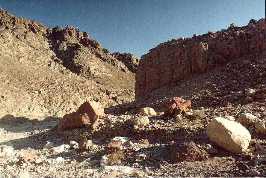 Volcanic stones along a jeep track along Netafim...north-west from Eilat. The Middle East