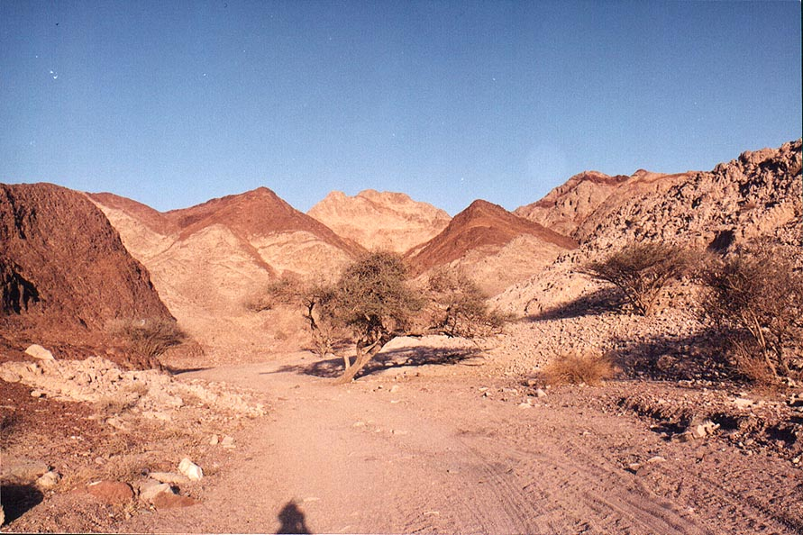 A road in Shahmon Mountains, 1.5 miles north from Eilat. The Middle East