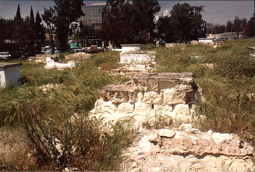 Abandoned graves in Moslem cemetery in central Beer-Sheva. The Middle East