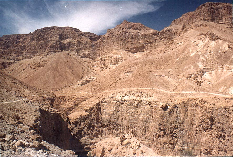 Beginning of upper Nahal David. Ein Gedi, the Middle East