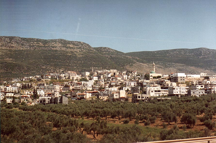 Nahf Sajur village in Galilee, view from Rd. 85. The Middle East