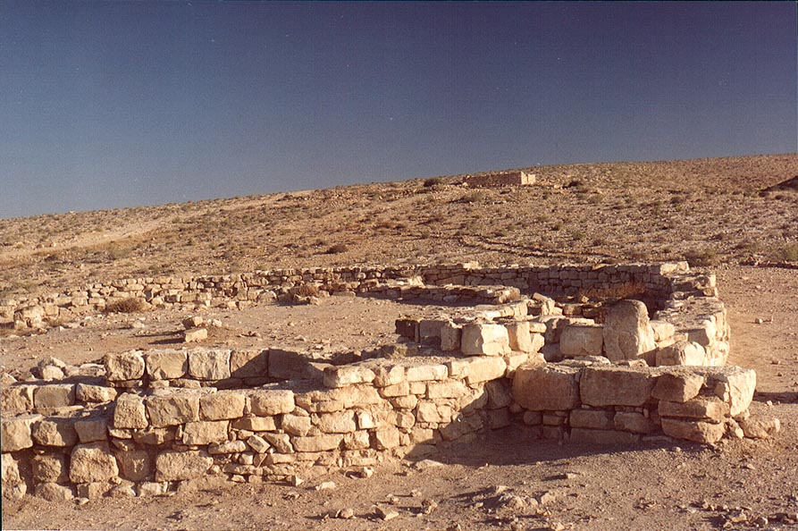 Fort Metzad Halukim in Negev Desert 1 mile north from Sde Boker. The Middle East