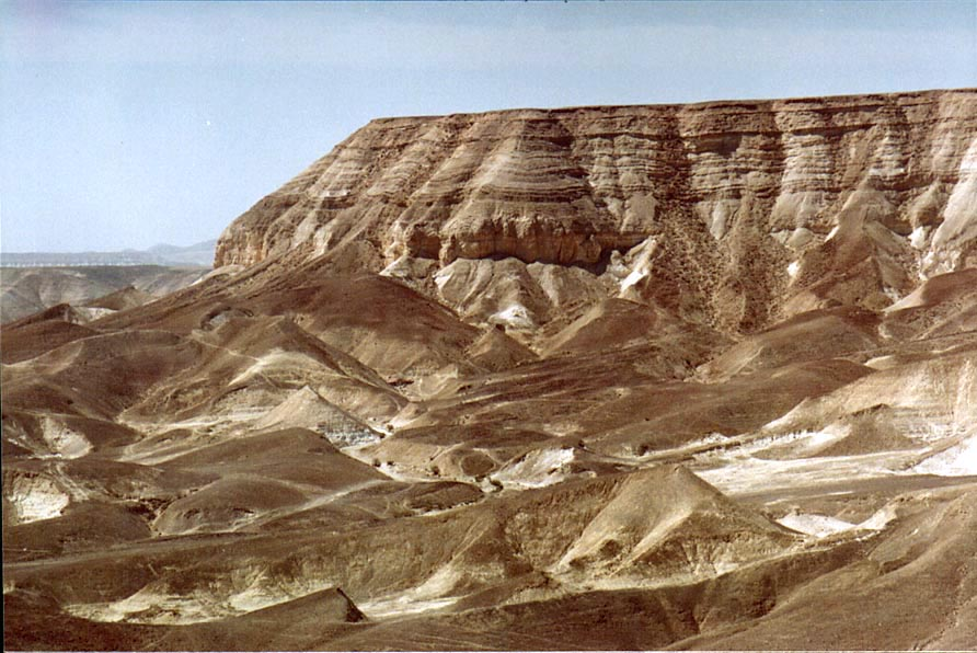 View of Tsuk Tamrur hill in Judean Desert from...west from Ein Bokek. The Middle East