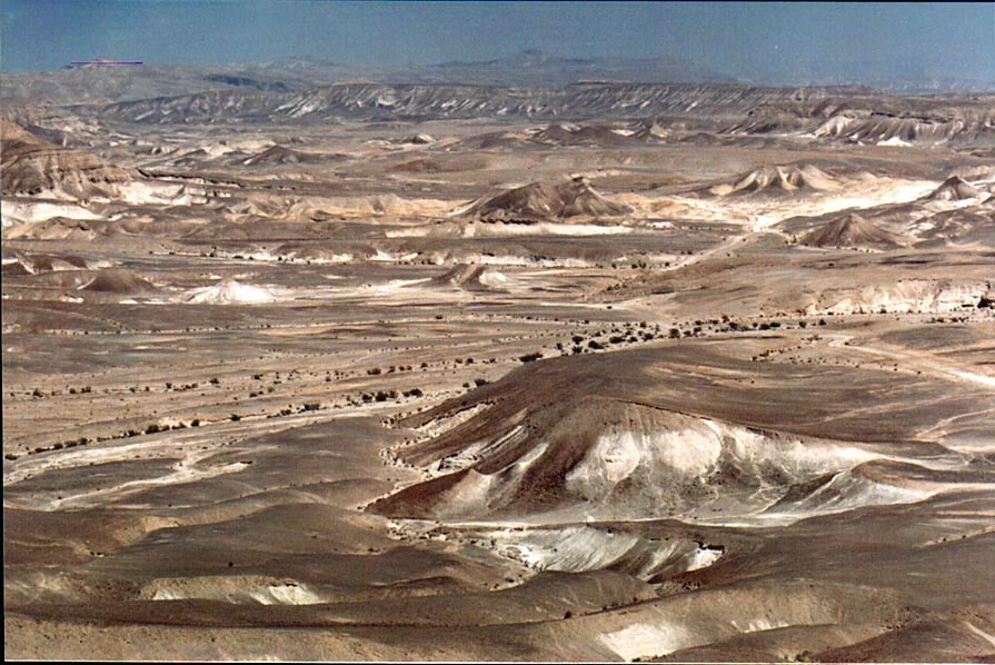 View of Judean Desert to the north from a hill, 2...west from Ein Bokek. The Middle East