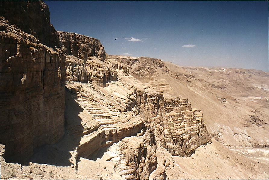View of a rim of the plateau to the north from Maale Bokek ascent. The Middle East