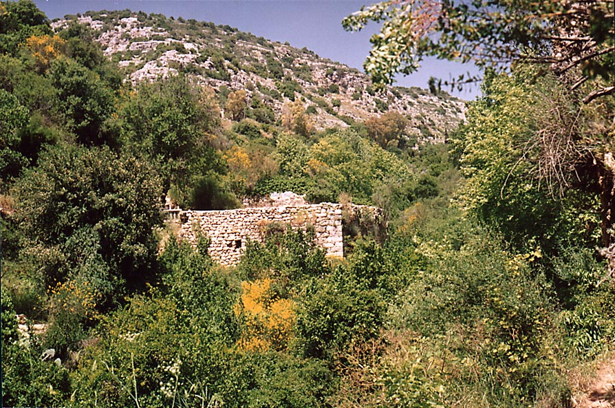 A mill near Ein Po'em spring at Nahal Ammud River near Safed. The Middle East