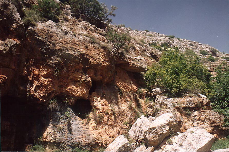 Ancient trail along Nahal Sekhvee River near Safed. The Middle East