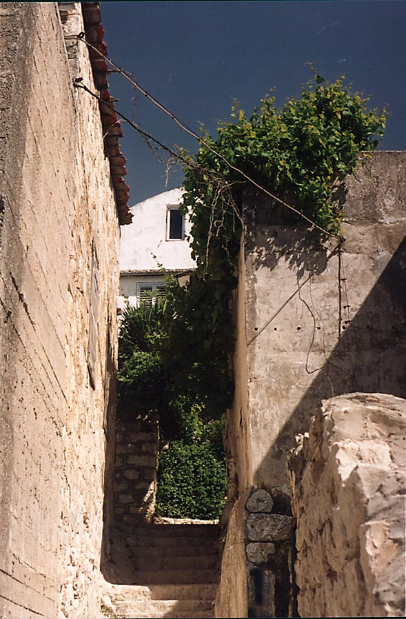 A street in the Old City of Safed. The Middle East