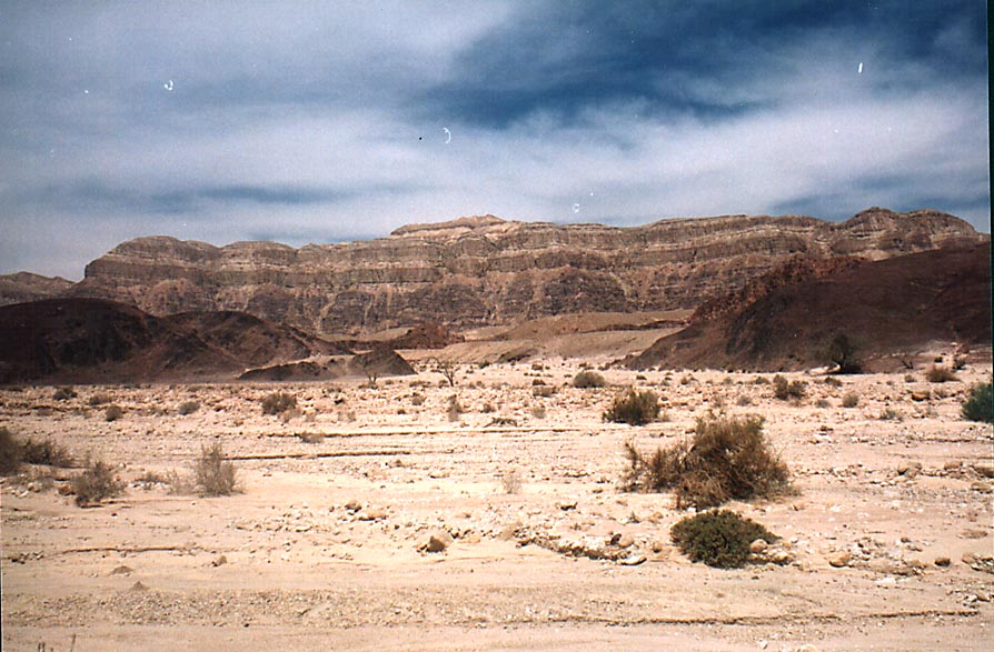 Timna Cliffs and Timna Stream north from Timna Park. The Middle East