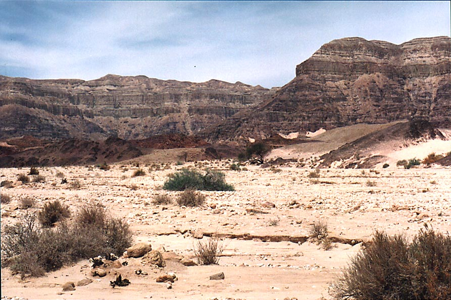 View to north-west from a foot of Spiral hill, in Timna Park. The Middle East
