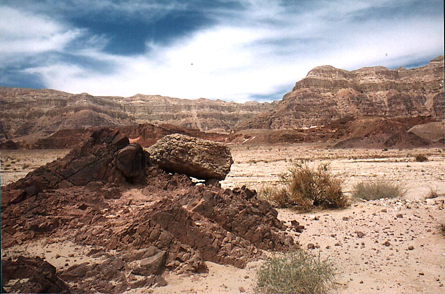 Area of Timna River in northern Timna Park. The Middle East
