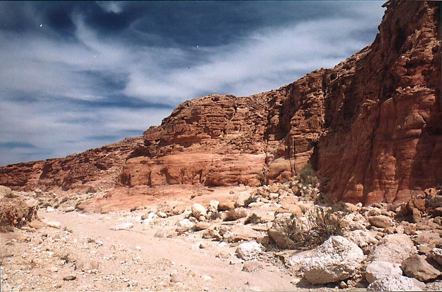 A wadi in copper mining area in western Timna Park, near Eilat. The Middle East