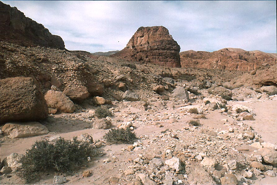 A wadi approaching Slaves Hill in western Timna Park, near Eilat. The Middle East