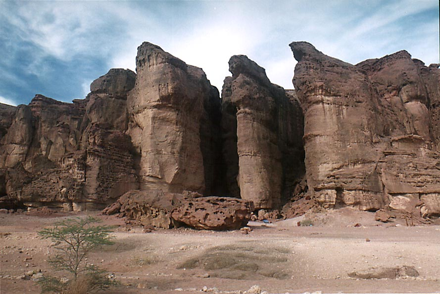 Solomon Pillars in Timna Park, near Eilat. The Middle East