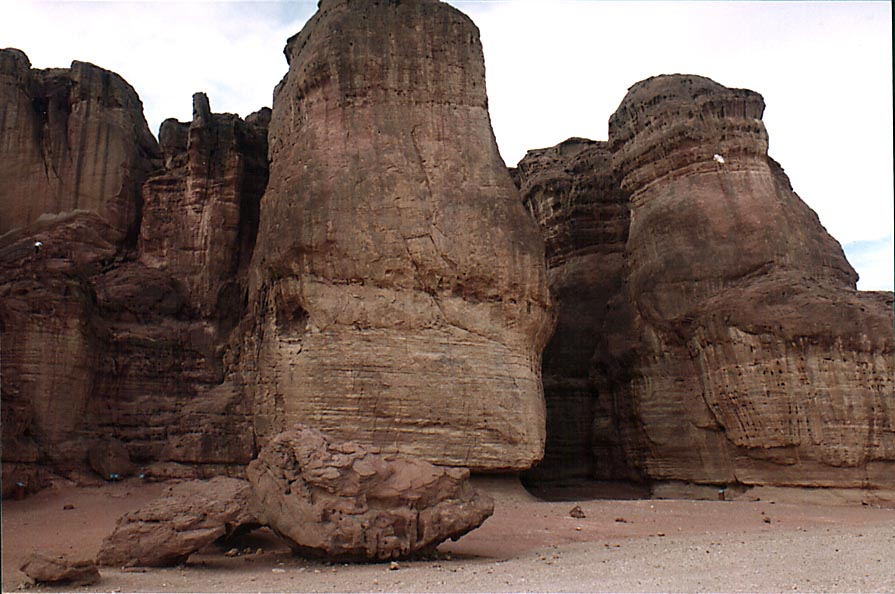 Eastern side of Solomon Pillars in Timna Park, near Eilat. The Middle East