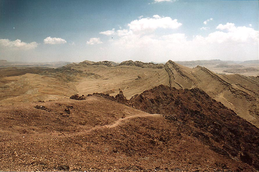 A summit of Ramon's Tooth, view to the east, with...from Mitzpe Ramon. The Middle East