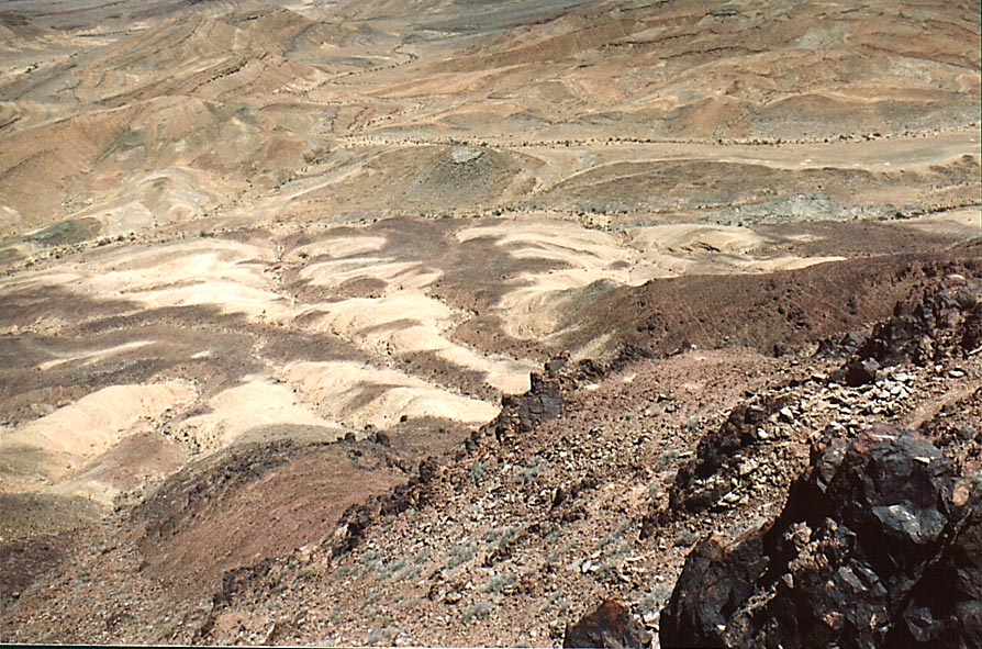 Northern slope of Ramon's Tooth, view from a...from Mitzpe Ramon. The Middle East