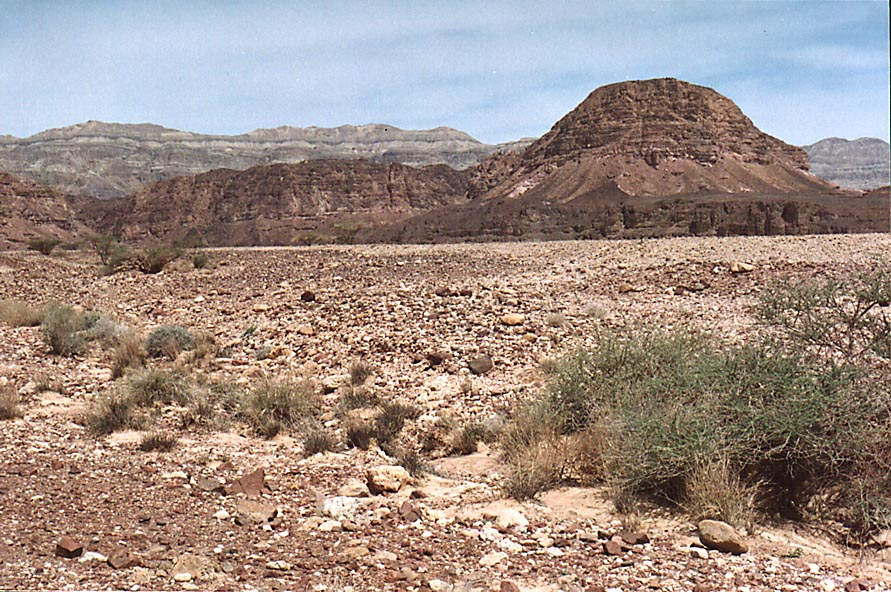 Sasgon Hill to the north from the entrance to...Eilat. The Middle East, Morning of