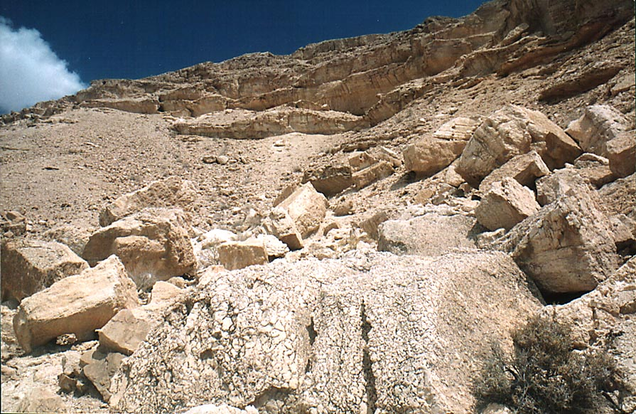 Descent to Dead Sea along Nahal Peres River, 2...hill and a jeep road. The Middle East