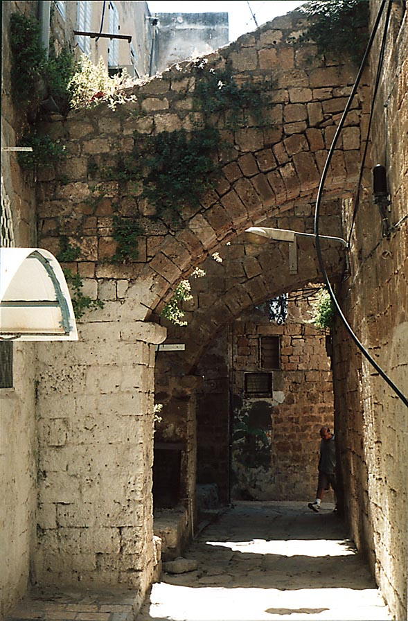 Louis de Phelippeaux Street in Old City of Akko, also spelled Acre. The Middle East