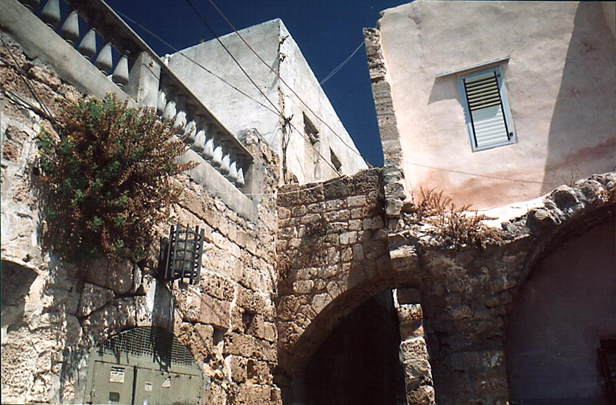 A street in eastern part of Old City of Akko. The Middle East