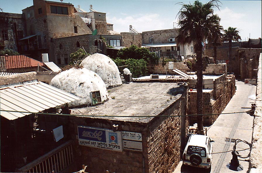 Sheikh Inam building at Salah and Bazri St., view...City of Akko (Acre). The Middle East