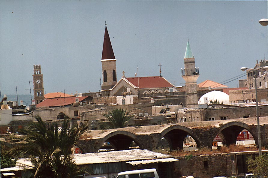 View of Shuk al Abiad (White Market) and Old City...from the bus station. The Middle East