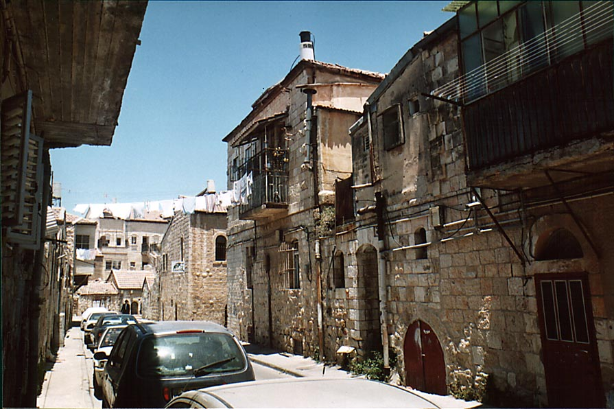 Chevrat Shas St. in Me'a She'arim community. Jerusalem, the Middle East