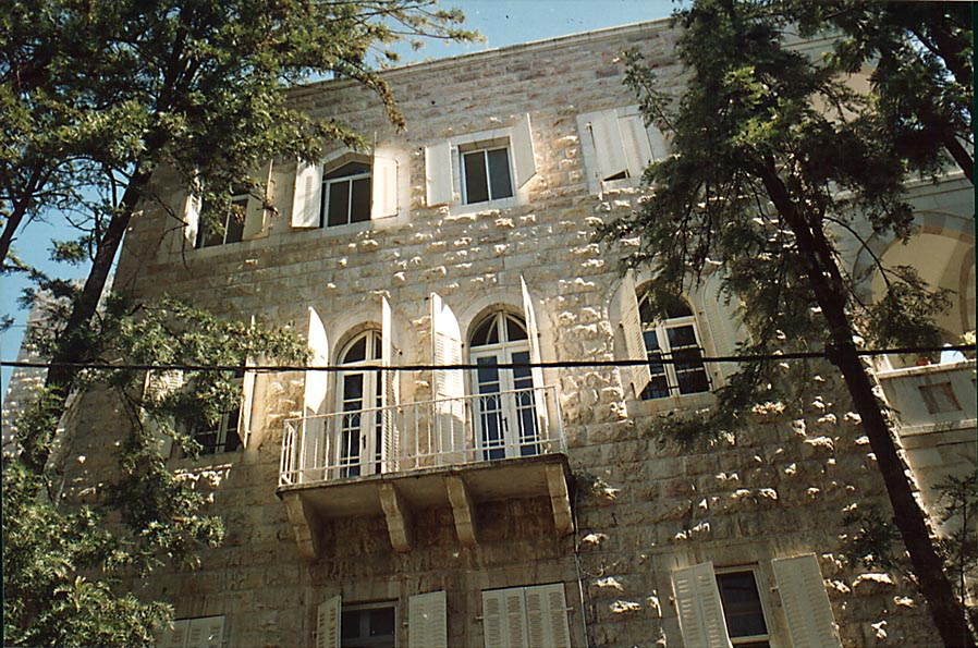 A former Arab house at Hovevei Tsion St.. Jerusalem, the Middle East