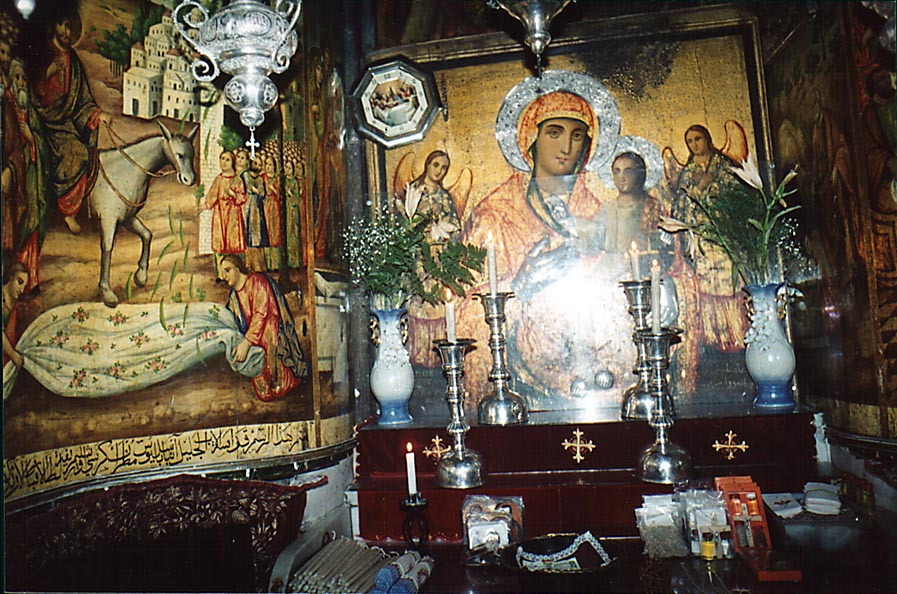 Chapel of the Copts in the Church of the Sepulchre in Old City. Jerusalem, the Middle East