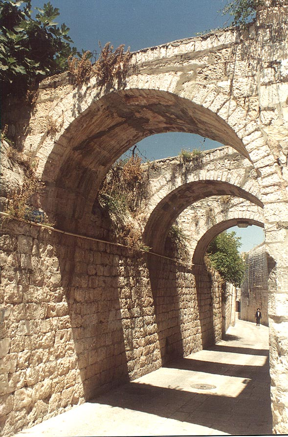 St.James St. in Old City of Jerusalem. The Middle East