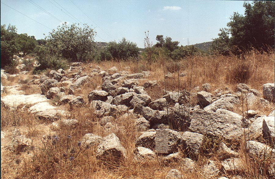 Ruins of the village of Soofla, 3 miles east from Beit Shemesh. The Middle East