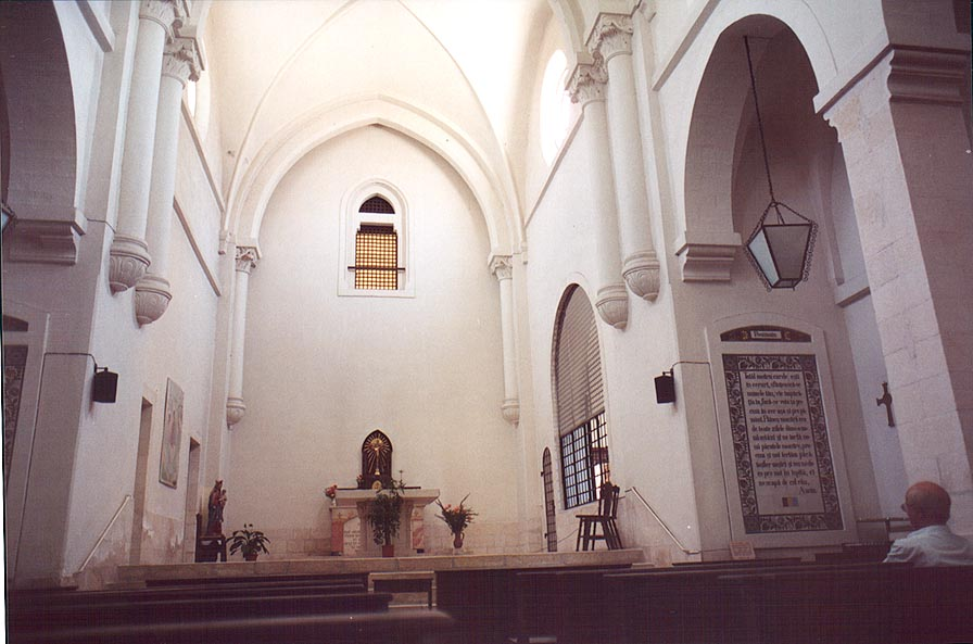 Interior of Pater Noster Church on Mount of Olives. Jerusalem, the Middle East