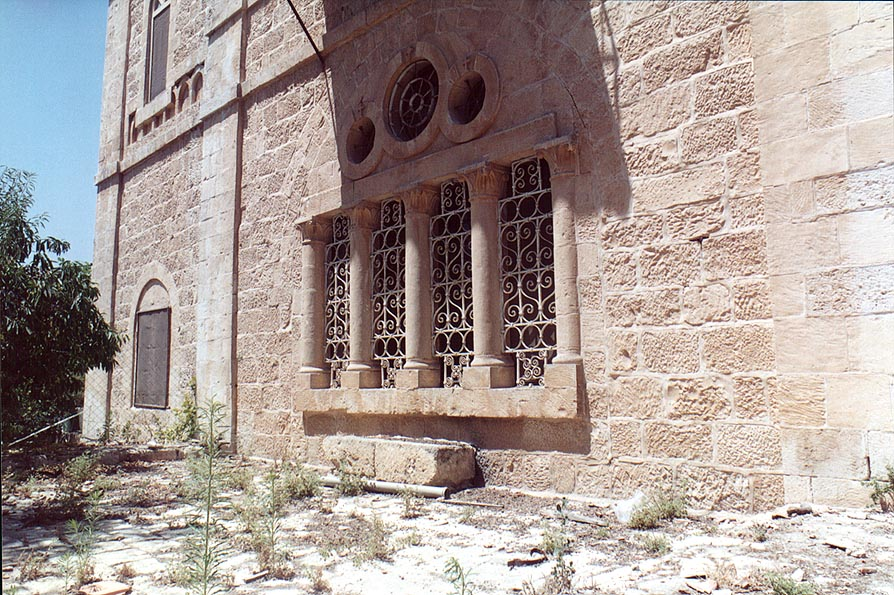 An abandoned building in Tur Malka Russian...of Olives. Jerusalem, the Middle East