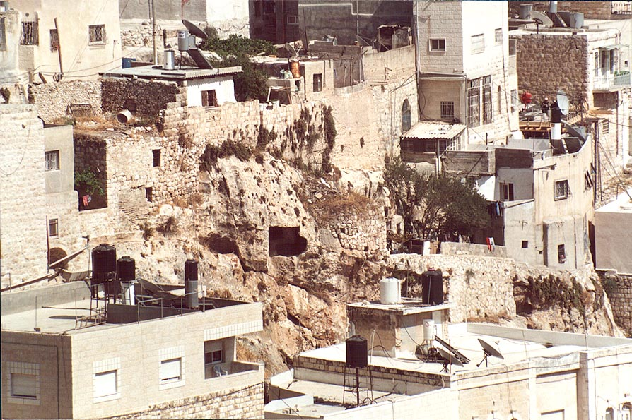 The village of Siloah (Silwan) built over the...Valley. Jerusalem, the Middle East