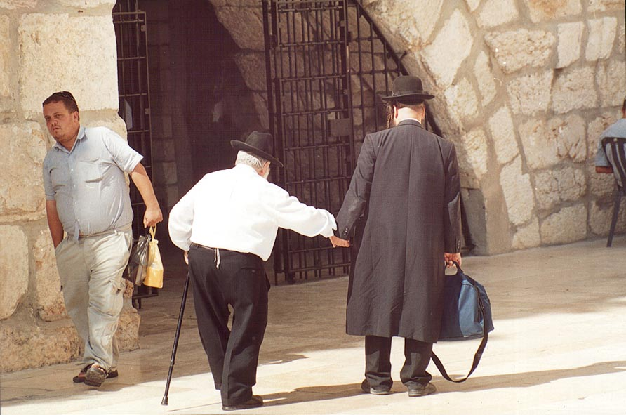 Entrance to a synagogue near Western, or Wailing Wall. Jerusalem, the Middle East