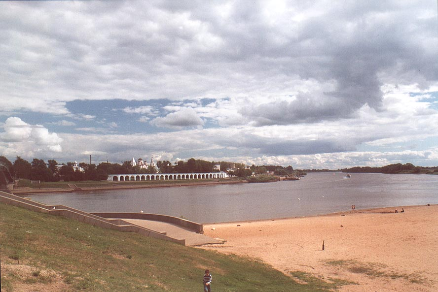 Volkhov River and Gorodishche Area. Novgorod, Russia
