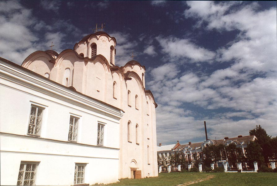 An Orthodox cathedral in Gorodishche Area. Novgorod, Russia