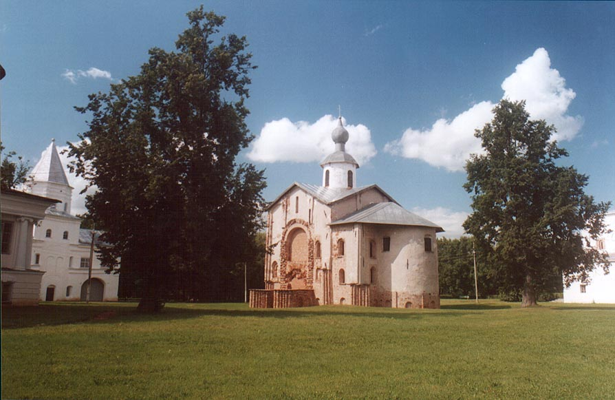 Church of St.Paraskevy Pyatnicy in Gorodishche Area (Yaroslav Courtyard). Novgorod, Russia