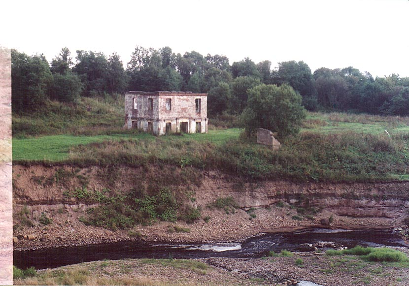 Remains of an estate on banks of Tosna River 3...miles south from St.Petersburg. Russia