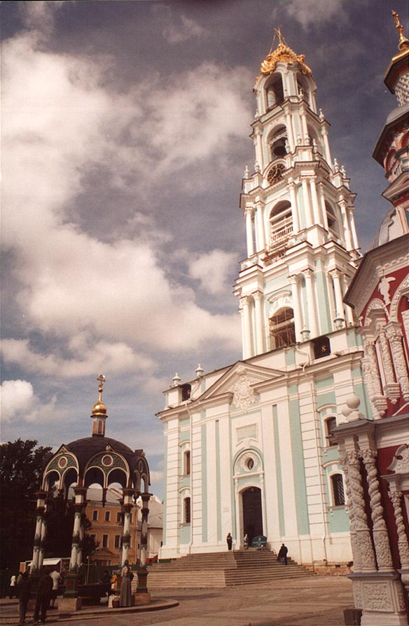 A monastery of Sergiev Posad (former Zagorsk) near Moscow. Russia
