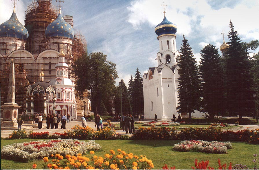 A popular tourist place of monastery of Sergiev Posad (former Zagorsk) near Moscow. Russia