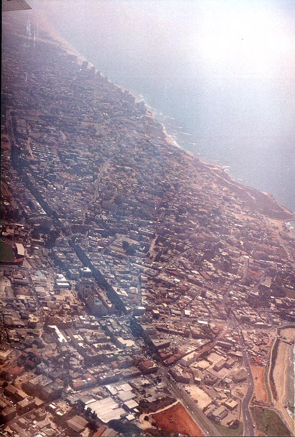 View of Yafo and Bat Yam from a plane from St...right lower third part of the picture
