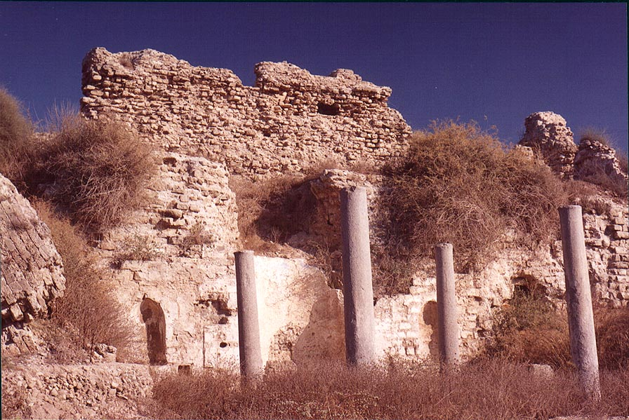 Remains of ancient Philistine Ashqalon in southern Ashkelon. The Middle East